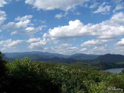 clouds over the Smoky Mountains