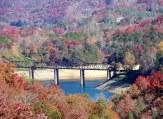 trestle and lake