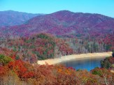 lake and colorful mountains