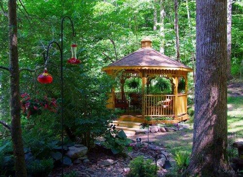 secret garden and gazebo