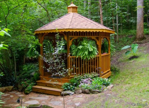 gazebo flower beds