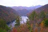 mountain lake and dam