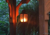 candle lantern inside gazebo
