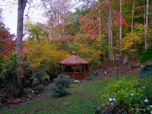 gazebo in fall