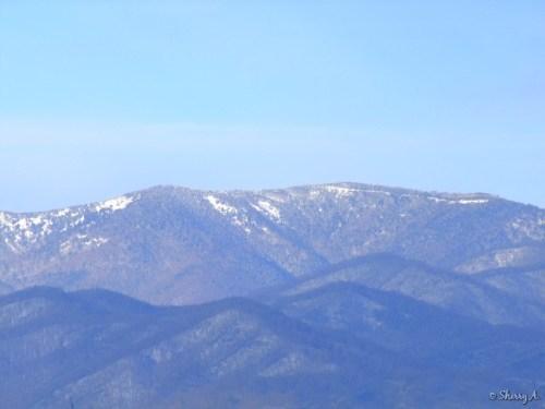 distant mountain peaks