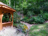 gazebo and slope bed